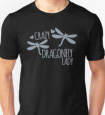 Verrückte Libellen-Dame Unisex T-Shirt