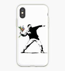 Flower Thrower - Banksy iPhone Case