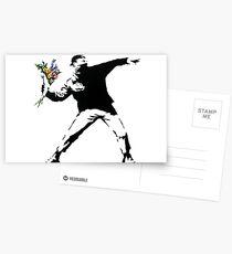 Postales Lanzador de flores - Banksy