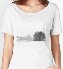 Black White Winter cold day Women's Relaxed Fit T-Shirt