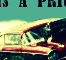 Dragster - My other car is a prius Sticker