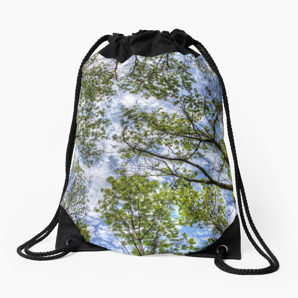Trees in the sky Drawstring Bag
