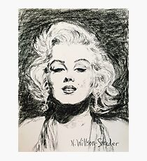 Marilyn, Black and White Photographic Print
