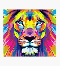 Painted Lion Photographic Print