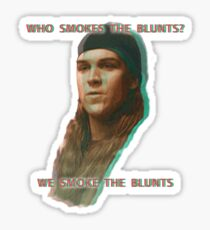 Who Smokes The Blunts? Sticker