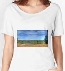 Forest under blue sky Relaxed Fit T-Shirt