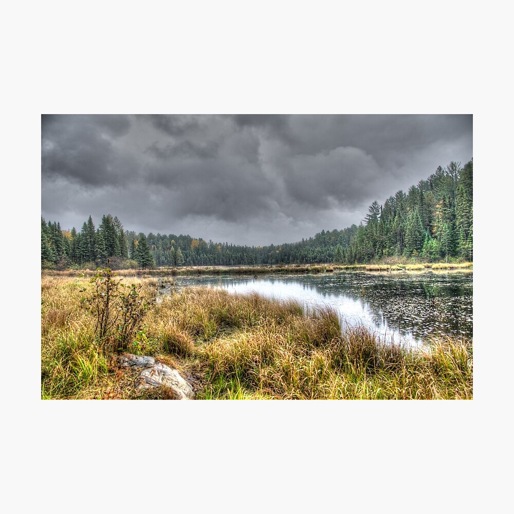 Clouds over the wetlands Photographic Print