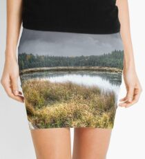 Clouds over the wetlands Mini Skirt