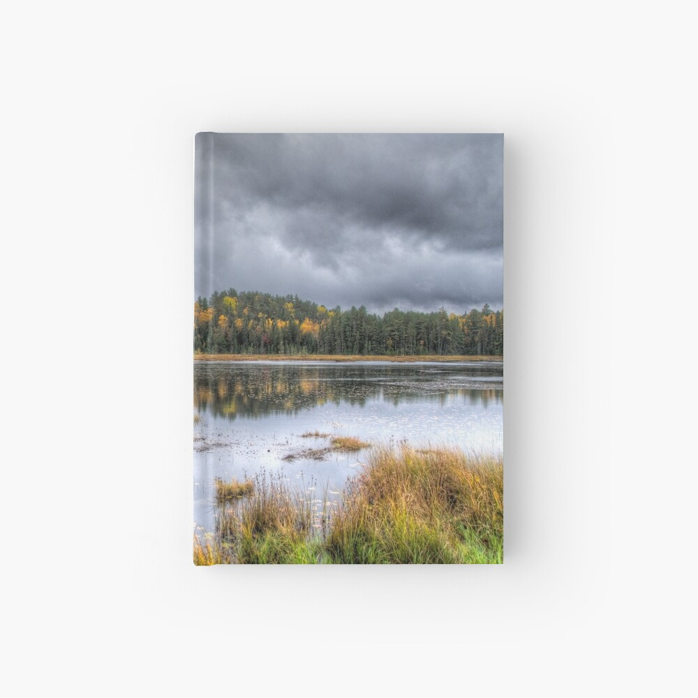 Overcast day over the pond Hardcover Journal