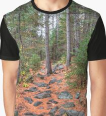 Rocky path through the pine forest Graphic T-Shirt