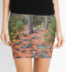 Rocky path through the pine forest Mini Skirt