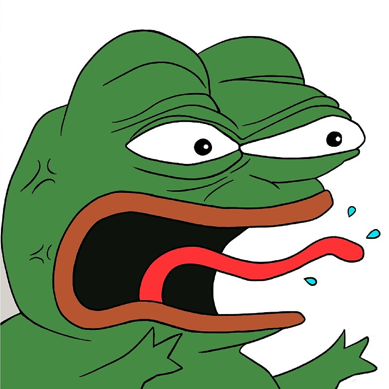 """""""Angry Pepe The Frog Meme (RARE)"""" by bitsnake 