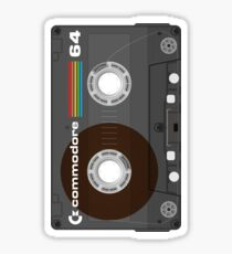 Commodore 64 Cassette Tape Sticker