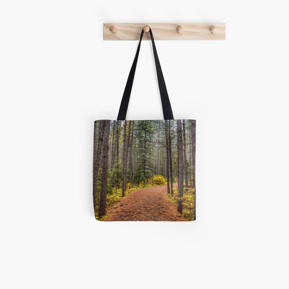 Path between the pines Tote Bag