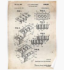 Lego Toy Blocks US Patent Art Poster