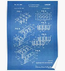 Blueprint posters redbubble lego construction toy blocks us patent art blueprint poster malvernweather Gallery