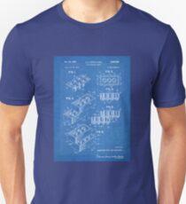 LEGO Construction Toy Blocks US Patent Art blueprint Unisex T-Shirt