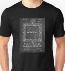 Monopoly Board Game US Patent Art 1935 Blackboard Unisex T-Shirt