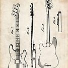 Fender Precision Bass Guitar US Patent Art by Steve Chambers
