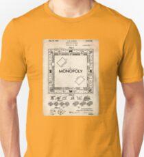 Monopoly Board Game US Patent Art 1935 Unisex T-Shirt