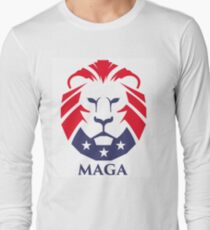 Camiseta de manga larga Logotipo de MAGA trump