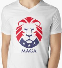 MAGA trump logo Men's V-Neck T-Shirt