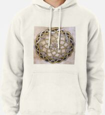 Gold Silver Celtic Knot Mandala Pullover Hoodie