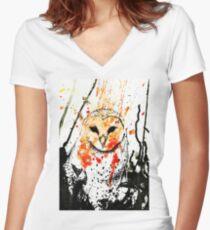 Watcher Original Women's Fitted V-Neck T-Shirt
