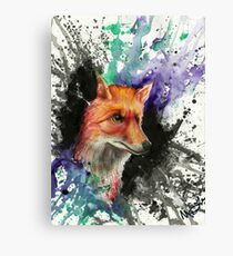 Fox of Many Colors Canvas Print