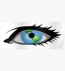 Global Earth View (Eye) Poster