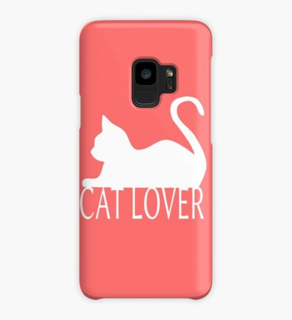 Cat Lover ... White Case/Skin for Samsung Galaxy