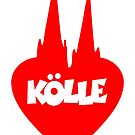 Kölle Herz mit Kölner Dom von theshirtshops