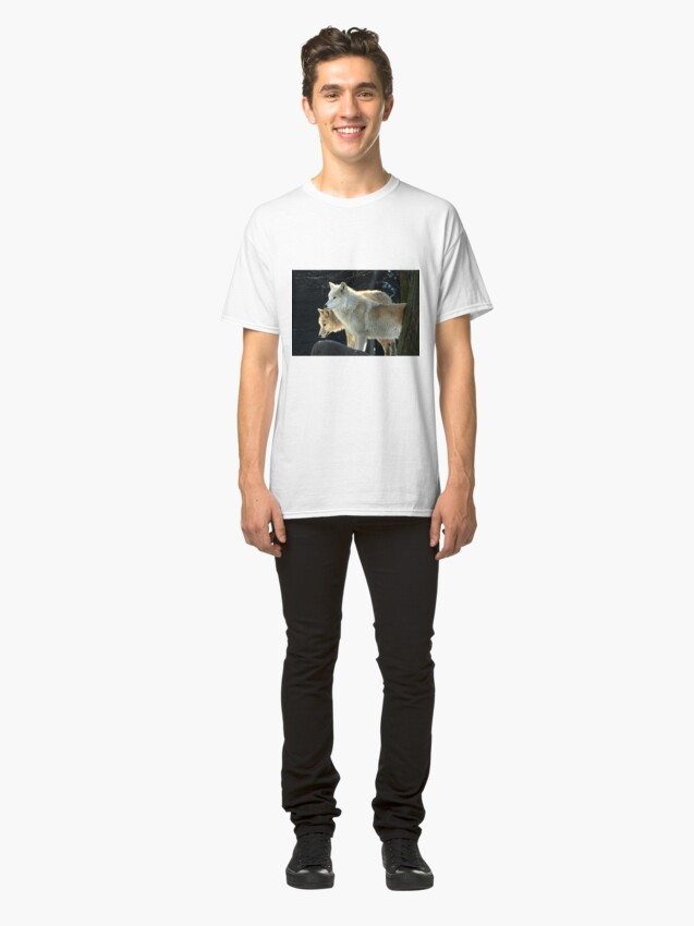 Alternate view of Two young wolves  Classic T-Shirt