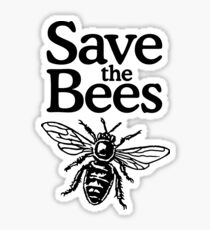 Save The Bees Beekeeper Quote Design Sticker