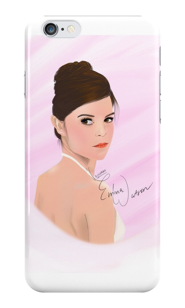 Portrait of emma watson iphone cases skins by - Emma watson iphone ...