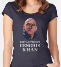 I Get A little Bit Genghis Khan Women's Fitted Scoop T-Shirt