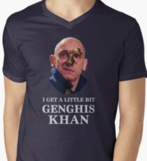 I Get A little Bit Genghis Khan Men's V-Neck T-Shirt