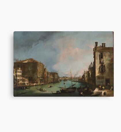 Canaletto Bernardo Bellotto - The Grand Canal in Venice with the Rialto Bridge 1724 Canvas Print