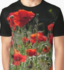 Red Poppies 001.1 (Rote Mohnblumen) Graphic T-Shirt