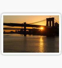 New York City Magic - Iconic Brooklyn Bridge Sunrise Sticker