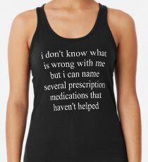 Prescription Medications Racerback Tank Top
