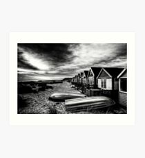 Beach Huts at Mudeford Spit, Christchurch Art Print