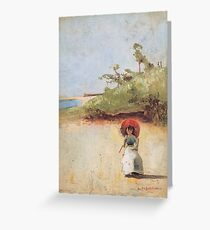 Charles Conder  - All on a summer s day 1888 Rustic  Australian  Provance  Greeting Card