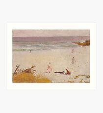 Charles Conder  - Bronte Beach 1888 Seascape Marine  Australian Art Print
