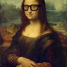 Hipster Glasses Mona Lisa - Leonardo da Vinci by StrangeStore