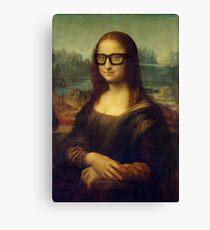 Hipster Glasses Mona Lisa - Leonardo da Vinci Canvas Print