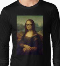 Hipster Glasses Mona Lisa - Leonardo da Vinci Long Sleeve T-Shirt