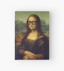 Hipster Glasses Mona Lisa - Leonardo da Vinci Hardcover Journal