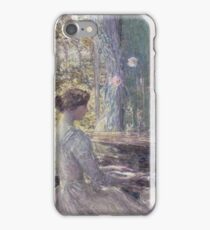 Childe Hassam - Improvisation American Impressionism Woman Portrait Fashion Musician Birthday iPhone Case/Skin
