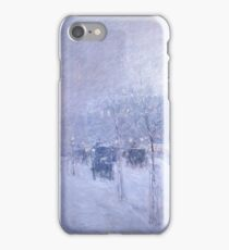 Childe Hassam - Late Afternoon, New York, Winter American Impressionism Landscape iPhone Case/Skin